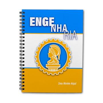 Caderno Personalizado 200fls Profissões Engenharia 01