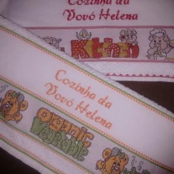 Kit toalhas de cozinha personalizado