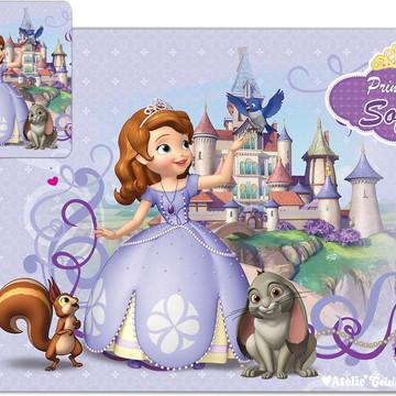 30 KIT Jogo Americano Princesa Sofia + BRINDE