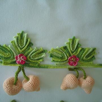 kits de frutas e legumes em croches