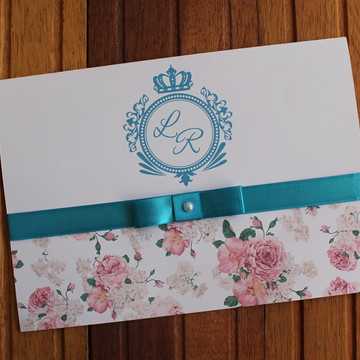Convite 15 anos - Convite casamento - aniversário turquesa