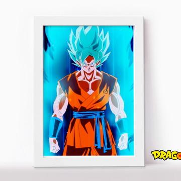 Quadro com Moldura Goku Sayajin