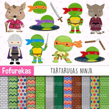 Kit Digital - Tartarugas Ninja
