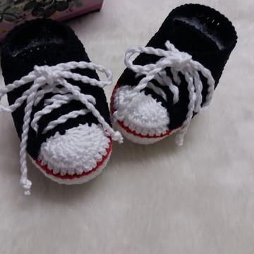 tenis de croche para bebe