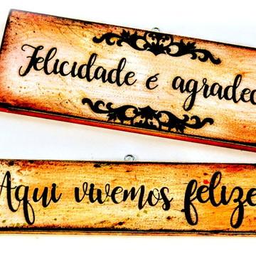 PAR Placas decorativas com Palavras - Frases inspiradoras