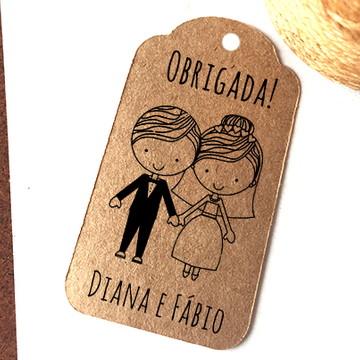 Tag kraft tradicional lembrancinhas casamento rústico