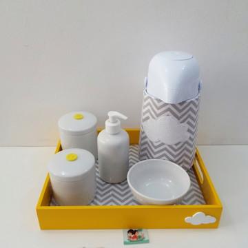 Kit Higiene Chevron Nuvem e Amarelo BL31