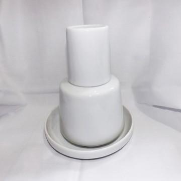 Moringa Porcelana Branca com Pratinho