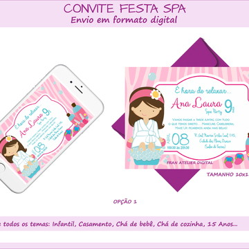 Convite Digital Festa SPA
