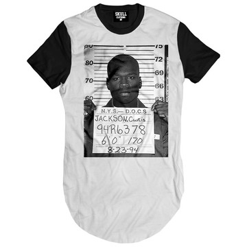 26af0adf0 Camiseta Long Line 50 Cent Preso camisa masculina Longa Swag