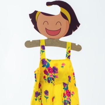 Vestido Alcinha Estampado Amarelo