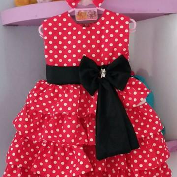 Vestido Infantil Minei Vermelho