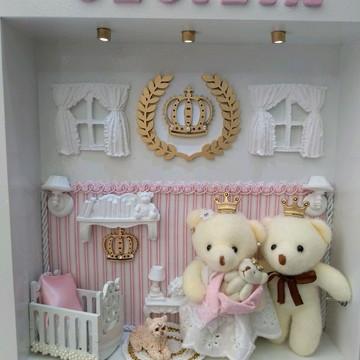 Quadro para porta de maternidade Princesa
