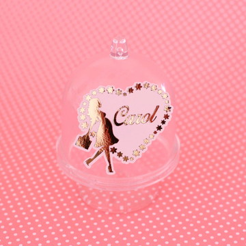 Mini-cúpula com texto – foil - chá de bebê - grávida