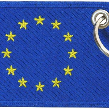 Chaveiro Patch Bordado - Bandeira União Européia BD50118C