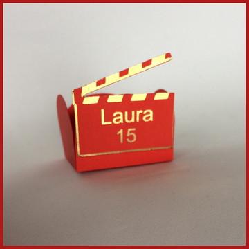 Forminha cinema claquete Hollywood