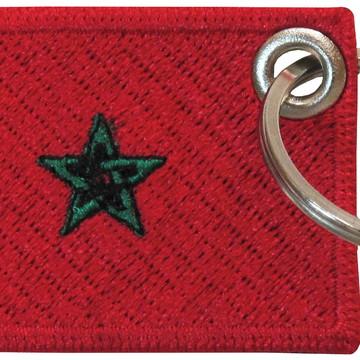 Chaveiro Patch Bordado - Bandeira Marrocos BD50161C