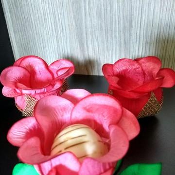Forminha botão de rosa