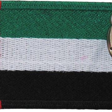 Chaveiro Patch Bordado - Bandeira Emirados Arabes BD50189c