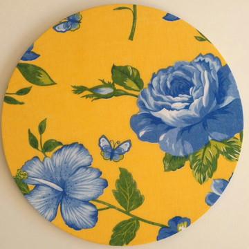 Capa para sousplat Chita (Flor Azul)