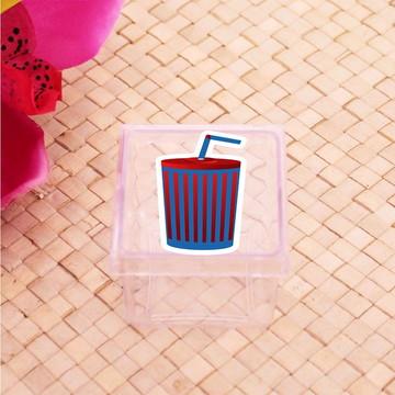 Caixinha de acrílico - cinema Hollywood refrigerante