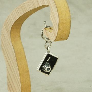 Berloque Charms Esmaltado Camera Fotografica (d2) Prata 925
