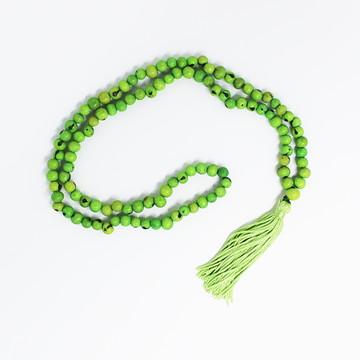 Japamala Semente de Açaí Verde com 108 Contas