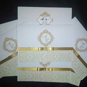 Convite 15 anos - Dourado