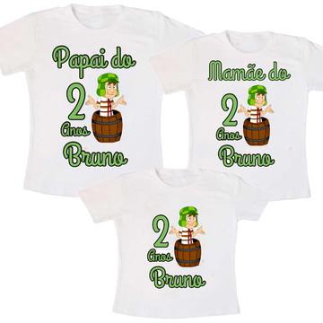 Camisetas Para Aniversário Chaves Kit C/03