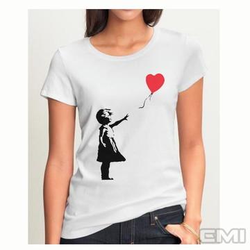 Camiseta criança balão amor
