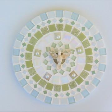 Mandala Divino em mosaico perolada