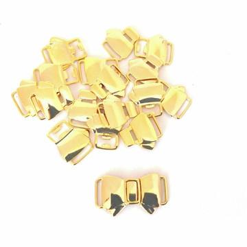 #(FIV-006) Fivela Ouro Flash Laço-10unid