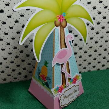 Flamingo caixa pirâmide
