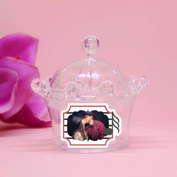 Mini-coroa com aplique com foto - notas musicais