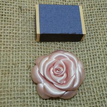 Flor para cabelo Mini camelia rosa cha