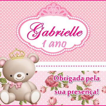 tag impressa   ursinha princesa   personalizada