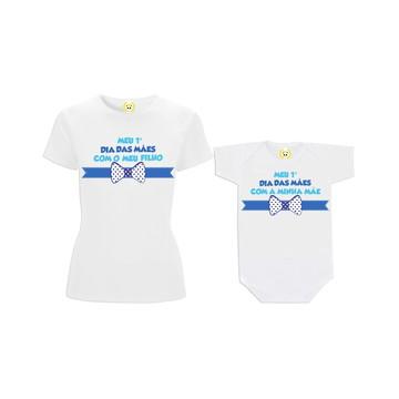 Camiseta Mãe Filho Dia das Mães Gravatinha