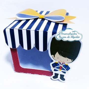 Caixa cubo com visor Soldadinho de Chumbo / Londres