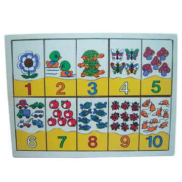 Numerais e Quantidades em Madeira - Multicolorido - Dicá