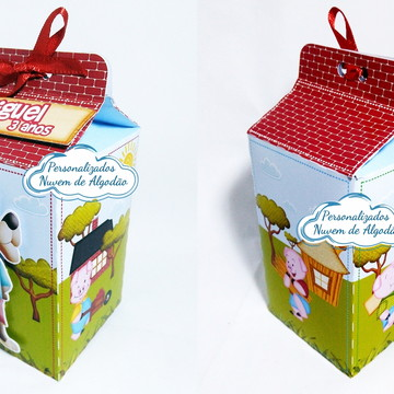 Caixa Milk Os 3 porquinhos