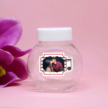 Mini-baleiro de plástico com foto - notas musicais