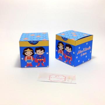 Caixa cubo super herois