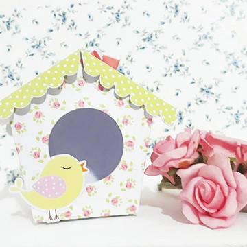 Caixa lembrancinha casinha de passarinho