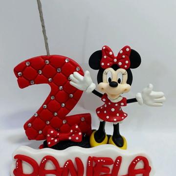 Vela aniversário Minnie Mickey