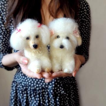 Poodles - Miniatura de cachorro (2 unidades)