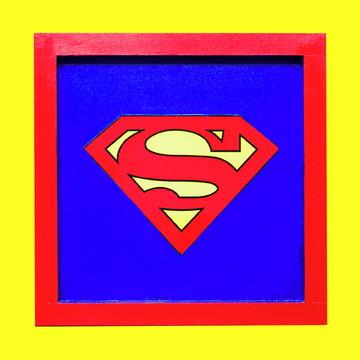 Quadro mdf Super Heróis
