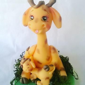 Girafa de biscuit centro de mesa tema safari