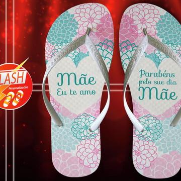 Chinelo Dia das Maes Personalizado