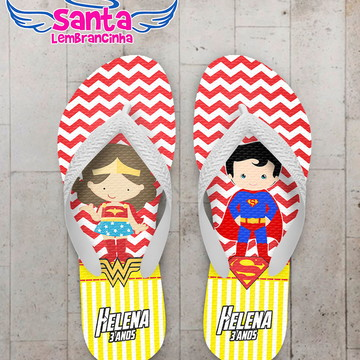 Chinelo Infantil Super Herois Cute
