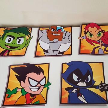 KIT Adesivo jovens titãs (Teen Titans)